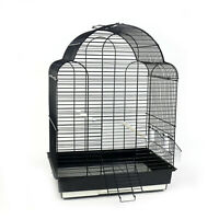 Medium Bird Cage Canary Finch Budgie Cockatiel Travel Cage Tray Feeders Handle