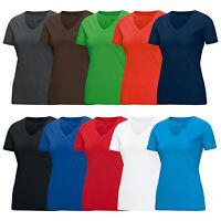 JAKO T-Shirt V-Neck Damen V-Ausschnitt Shirt Freizeitshirt Ladys 6113