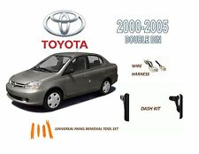 2000-2005 TOYOTA ECHO DASH INSTALL KIT for CAR STEREO, with WIRE HARNESS
