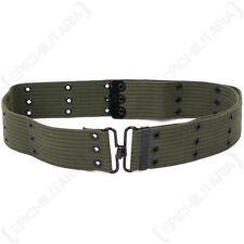 Olive Green Pistol Belt - Webbing Army Military Equipment Cotton US American New