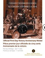 2005 Canadian Mint First Day Victory Anniversary 5 cents Coin BU J33