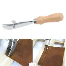 Adjustable Outside Edge Creaser Leather Craft Tools DIY Handmade Wood+Steel Kit