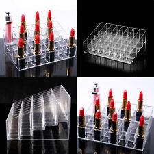 Clear 40 Acrylic Make-up Brush Storage Organiser Case Display Lipstick Holder UK