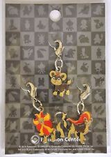 Pokemon Center Limited Mega Stone Metal Charm Set XY key chain Pyroar US Seller