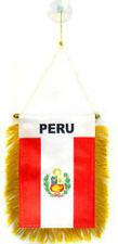 "Wholesale lot 12 Peru Mini Flag 4""x6"" Window Banner w/ suction cup"