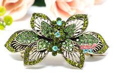 New flowers wedding bridal Rhinestone Crystal Metal hair claws clips Barrette