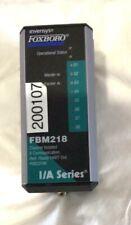 Invensys Foxboro Fbm218 Redundant Ready Hart Output 8 Channels Pn P0