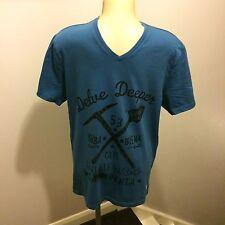 100% Genuine Mens Levi Blue Graphic T Shirt, Size M