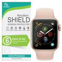 [6-PACK] For Apple Watch Screen Protector 40mm Series 5 4 RinoGear USA Made
