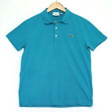 Lacoste Sport Polo Shirt Mens Large Blue Short Sleeve Slim Fit