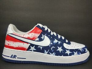 Nike Air Force 1 Low Mens Size 11.5 Shoes Independence Day Print Red 488298 425