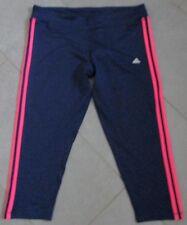 Adidas Hose Laufhose 3/4-Hose Caprihose Clima 3SESS 34 blau pink Gr. XL 46 48
