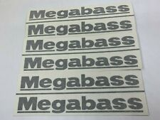 "6 x Megabass Fishing Decals Window Stickers 9"""