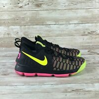 Nike Zoom KD 9 Youth Size 13.5 C Black Olympic Kevin Durant Basketball Sneakers