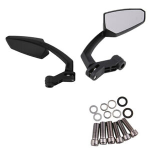 1 Pair Motorcycle Rear View Handle Bar End Side Rearview Mirrors +10/8mm Screw