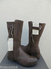UGG COLLECTION ENNA GRIGIO LEATHER/ SHEARLING MOTO BOOTS, US 9/ EUR 40 ~  NIB