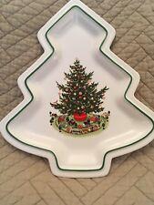 Pfaltzgraff Christmas Tree Shaped Serving Ceramic Dish
