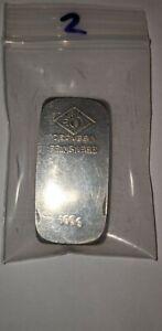 Degussa 100 Gram Silver .999 Bar Vintage #2