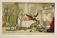 ENGRAVING DR.SYNTAX  ROWLANDSON  DR.SYNTAX  RELAXES IN LODGINGS  ACKERMANS 1813
