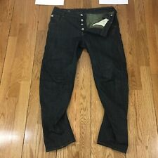 Mens G-Star Raw ARC 3D Tapered Jeans, Button Fly, Size 31x27