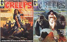 Creeps Magazine #1 & #2 Fall 2014 & Spring 2015 Warrant Publishing Horror Comics