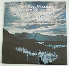 LP The Mormon Tabernacle  Choir Climb Every Mountain  Columbia still sealed
