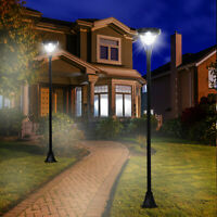 Solar Torch Lights Outdoor Garden Decoration 6 LED Lighting Auto On/Off