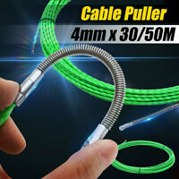 4mm x 10/20/30/50M Cable Push Puller Rodder Conduit Snake Fish Tape POM Wire UK