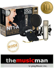 Rode NT1-A Condenser Microphone Cardioid Mic NT1A Recording w/ SM6 Shock Mount.