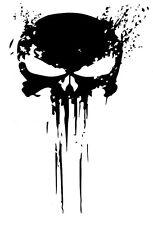 PUNISHER skull BLOOD vinyl decal sticker for car truck wrangler jeep