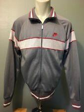 Vtg 1980s 80s Nike Blue Label Tag Jacket Mens L Zip Up Track Jogging Tennis Coat