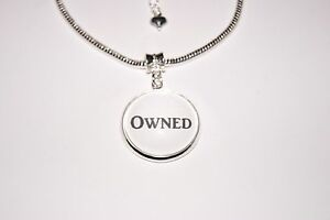Owned Word Charm Euro Anklet Ankle Chain Jewellery Hotwife Dom Submissive Slave