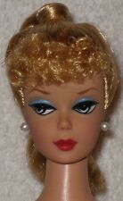 VINTAGE BARBIE REPRO/REPRODUCTION-NUDE DOLL-BLONDE PONYTAIL/CURLY BANGS-MINT