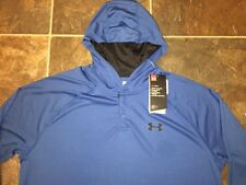 NWT Mens M Under Armour Tech Popover Sports Henley Training Hoodie Shirt 1291313