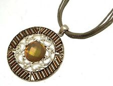 Round Brown Necklace Fashion Brown Pendants Brown Jewellery 707