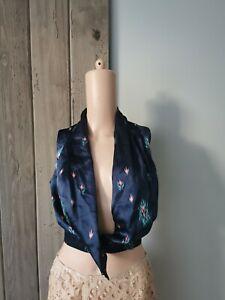 Ulyana Sergeenko silk sexy blouse sz36 collectible