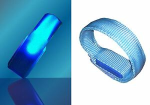 LED 4-way Lighted Reflective Flashing Wristband for Night Safety - SIZE Small