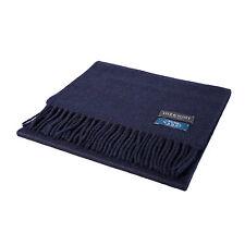 Lyle & scott 100% cachemire de luxe écharpe couleur: plain navy