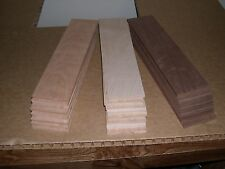 "24 WALNUT CHERRY MAPLE THIN BOARDS LUMBER WOOD  SCROLL SAW 12""x 3""x 1/4"""