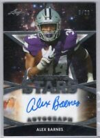 5/20 Alex Barnes Auto Rookie Card SA-AB1 2019 Leaf Ultimate Stars Kansas State