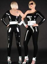218 Latex Catsuit Rubber Gummi Rompers belt gloves customized unitard 0.4mm suit