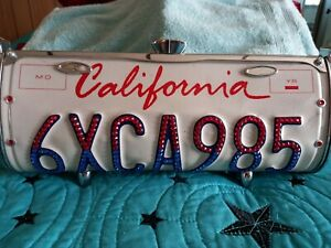 Littlearth Jeweled California License Plate Purse w Certificate of Authenticity
