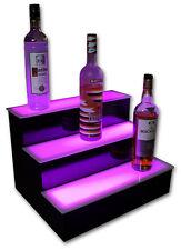 "20"" 3 Step Tier Led Lighted Shelves Illuminated Liquor Bottle Bar Display Stand"