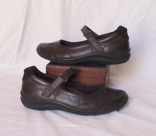 Ecco Babbet Mary Jane Womens Shoes Size 6 Brown Leather