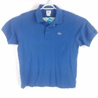 Lacoste Blue Short Sleeve Polo Shirt, Mens Large (Size 6)