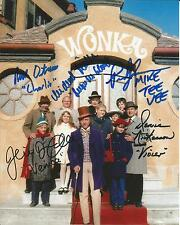 Hand Signed 8x10 photo WILLY WONKA & THE CHOCOLATE FACTORY - FIVE CHILDREN + COA