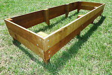Raised Timber Garden Beds - 100% natural Hardwood planter boxes - 1800x600x200