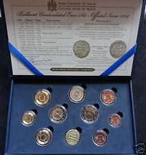 manueduc  MALTA  2014 ESTUCHE  OFICIAL  9 Monedas Con 2 EUROS    Con Ceca  BU