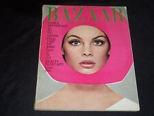1965 APRIL HARPER'S BAZAAR MAGAZINE - JEAN SHRIMPTON RICHARD AVEDON COVER -J3168