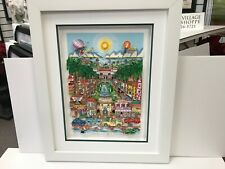 """Charles Fazzino 3D Artwork """" Perfectly Palm Beach """" Signed & Numbered Deluxe Ed."""